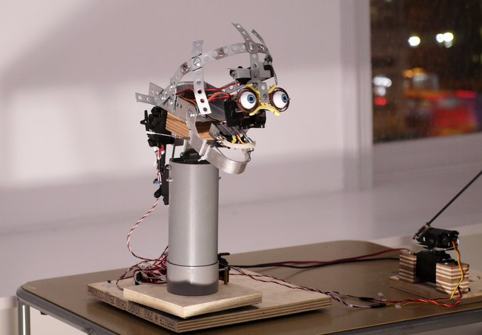 The Preface by Nathaniel Mellors. A skinless robotic animatronic head delivers a monologue.